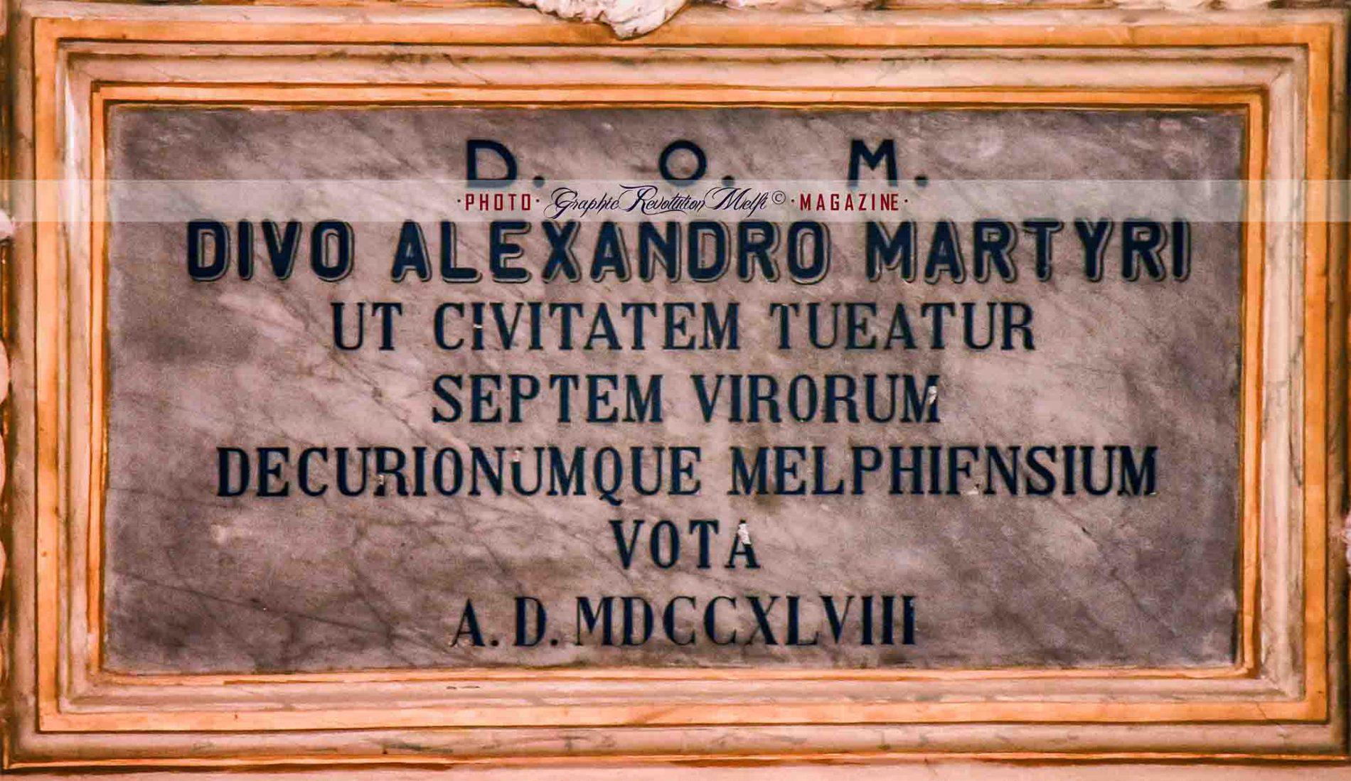 Melfi patrono sant'Alessandro cattedrale altare