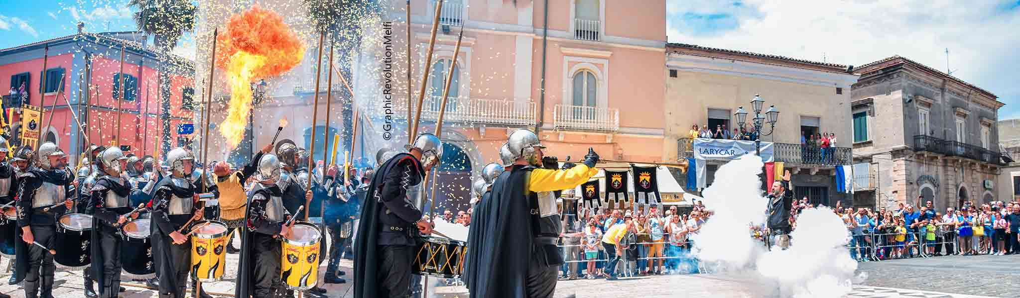 pentecoste melfi pasqua di sangue presa porta venosina assedio castello archibugieri trombonieri senatore