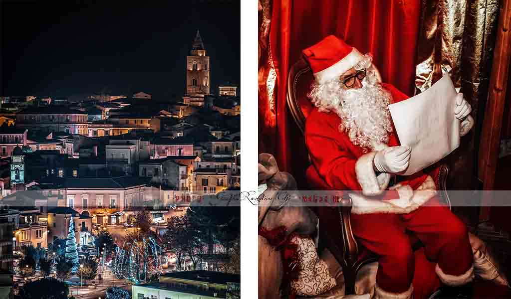 Melfi: magica atmosfera stasera con l'arrivo di Babbo Natale! Le foto