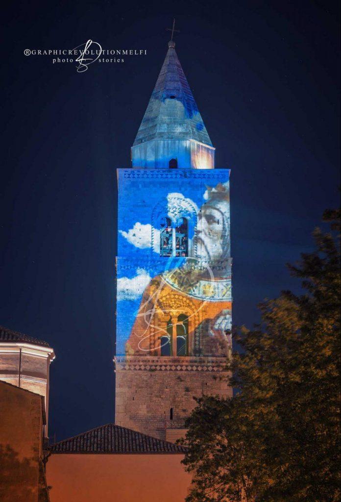 melfi videomapping estate foto gianpiero francese campanile di melfi